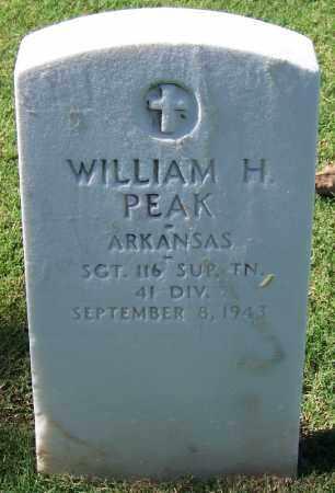 PEAK (VETERAN), WILLIAM H - Sebastian County, Arkansas   WILLIAM H PEAK (VETERAN) - Arkansas Gravestone Photos