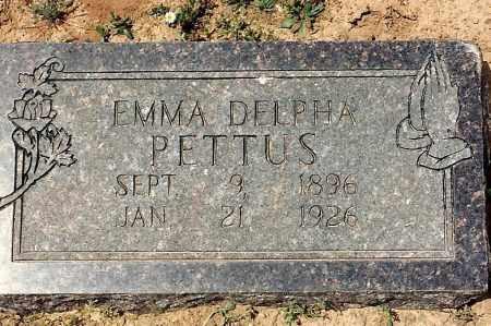 ALMOND PETTUS, EMMA DELPHA - Sebastian County, Arkansas | EMMA DELPHA ALMOND PETTUS - Arkansas Gravestone Photos