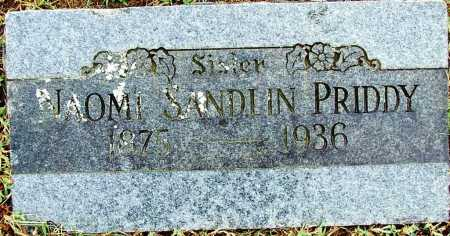 SANDLIN PRIDDY, NAOMI - Sebastian County, Arkansas | NAOMI SANDLIN PRIDDY - Arkansas Gravestone Photos