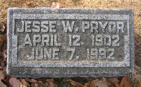 PRYOR, JESSE W. - Sebastian County, Arkansas | JESSE W. PRYOR - Arkansas Gravestone Photos
