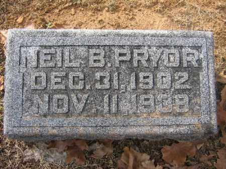 PRYOR, NEIL B. - Sebastian County, Arkansas | NEIL B. PRYOR - Arkansas Gravestone Photos