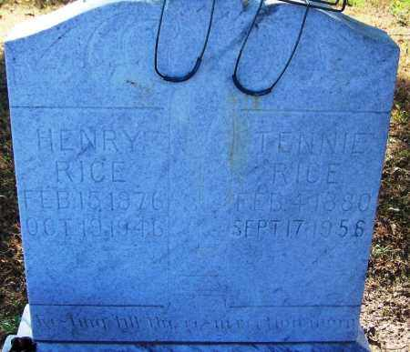 RICE, HENRY - Sebastian County, Arkansas | HENRY RICE - Arkansas Gravestone Photos