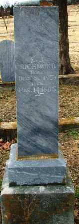 RICHMOND, ELIZABETH JANE - Sebastian County, Arkansas | ELIZABETH JANE RICHMOND - Arkansas Gravestone Photos