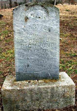 RICHMOND, MARY B (2) - Sebastian County, Arkansas | MARY B (2) RICHMOND - Arkansas Gravestone Photos