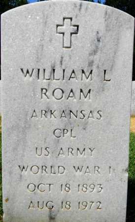 ROAM (VETERAN WWI), WILLIAM L - Sebastian County, Arkansas | WILLIAM L ROAM (VETERAN WWI) - Arkansas Gravestone Photos