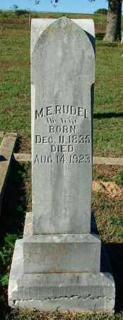 RUDEL, M. E. - Sebastian County, Arkansas   M. E. RUDEL - Arkansas Gravestone Photos