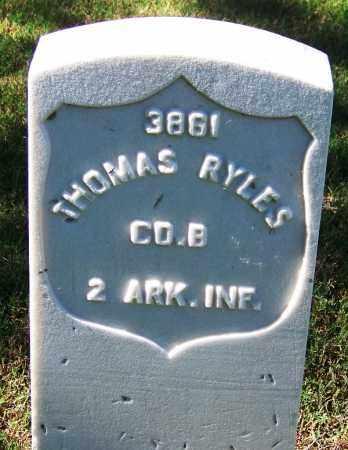 RYLES (VETERAN UNION), THOMAS - Sebastian County, Arkansas   THOMAS RYLES (VETERAN UNION) - Arkansas Gravestone Photos