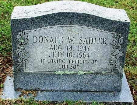 SADLER, DONALD W - Sebastian County, Arkansas   DONALD W SADLER - Arkansas Gravestone Photos