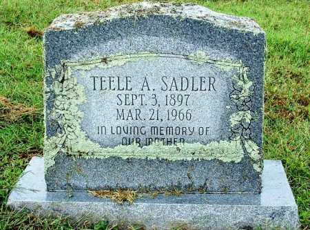 SADLER, TEELE A. - Sebastian County, Arkansas   TEELE A. SADLER - Arkansas Gravestone Photos