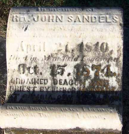 SANDELS, REV, JOHN - Sebastian County, Arkansas   JOHN SANDELS, REV - Arkansas Gravestone Photos