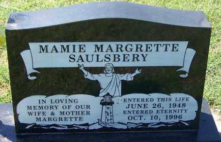 SAULSBERY, MAMIE MARGRETTE - Sebastian County, Arkansas | MAMIE MARGRETTE SAULSBERY - Arkansas Gravestone Photos