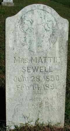 SEWELL, MRS. MATTIE - Sebastian County, Arkansas | MRS. MATTIE SEWELL - Arkansas Gravestone Photos