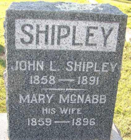 MC NABB SHIPLEY, MARY - Sebastian County, Arkansas | MARY MC NABB SHIPLEY - Arkansas Gravestone Photos