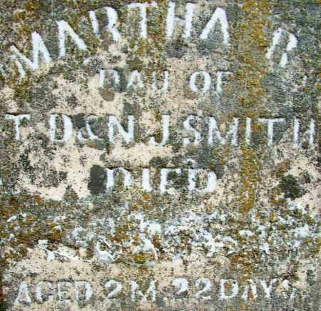 SMITH, MARTHA R (CLOSE UP) - Sebastian County, Arkansas   MARTHA R (CLOSE UP) SMITH - Arkansas Gravestone Photos