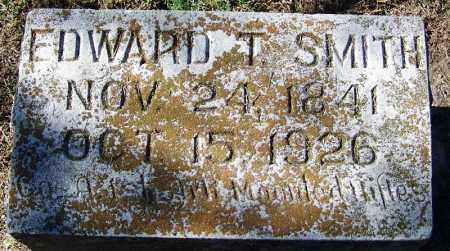 SMITH (VETERAN CSA), EDWARD T - Sebastian County, Arkansas   EDWARD T SMITH (VETERAN CSA) - Arkansas Gravestone Photos