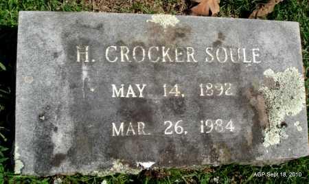 SOULE, H. CROCKER - Sebastian County, Arkansas   H. CROCKER SOULE - Arkansas Gravestone Photos