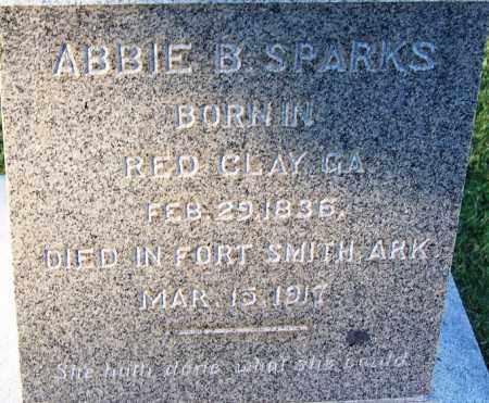 SPARKS, ABBIE B (CLOSEUP) - Sebastian County, Arkansas   ABBIE B (CLOSEUP) SPARKS - Arkansas Gravestone Photos