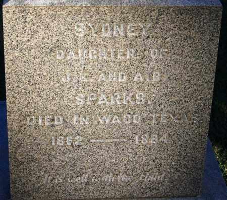 SPARKS, SYDNEY - Sebastian County, Arkansas   SYDNEY SPARKS - Arkansas Gravestone Photos