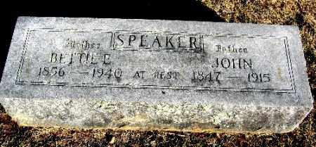 SPEAKER, BETTIE E. - Sebastian County, Arkansas | BETTIE E. SPEAKER - Arkansas Gravestone Photos