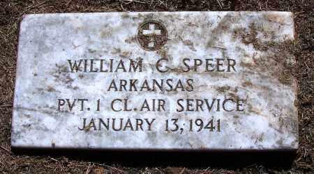 SPEER (VETERAN), WILLIAM C - Sebastian County, Arkansas   WILLIAM C SPEER (VETERAN) - Arkansas Gravestone Photos