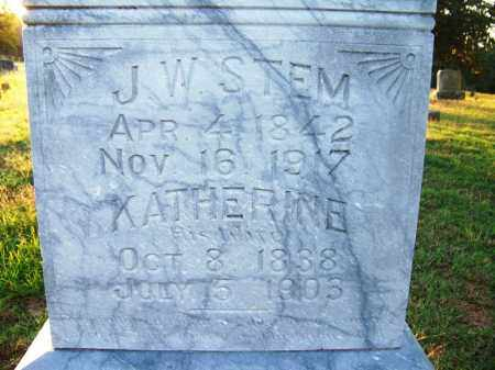 STEM, KATHERINE - Sebastian County, Arkansas | KATHERINE STEM - Arkansas Gravestone Photos