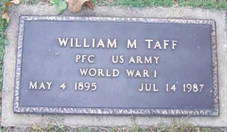TAFF (VETERAN WWI), WILLIAM M - Sebastian County, Arkansas | WILLIAM M TAFF (VETERAN WWI) - Arkansas Gravestone Photos