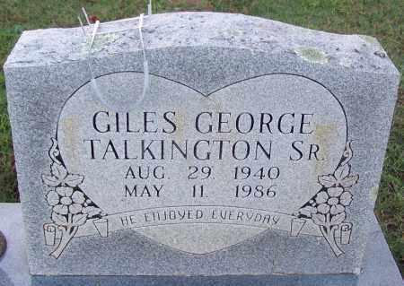 TALKINGTON, SR., GILES GEORGE - Sebastian County, Arkansas | GILES GEORGE TALKINGTON, SR. - Arkansas Gravestone Photos