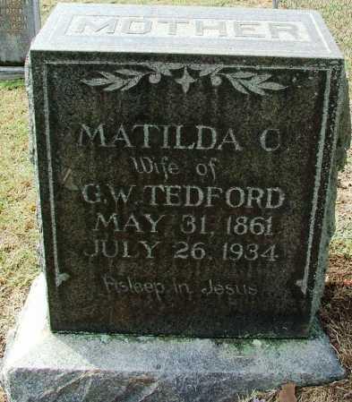 TEDFORD, MATILDA C. - Sebastian County, Arkansas | MATILDA C. TEDFORD - Arkansas Gravestone Photos