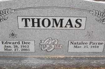 THOMAS, NATALEE - Sebastian County, Arkansas | NATALEE THOMAS - Arkansas Gravestone Photos