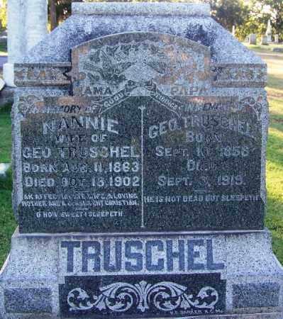 TRUSCHEL, NANNIE - Sebastian County, Arkansas | NANNIE TRUSCHEL - Arkansas Gravestone Photos