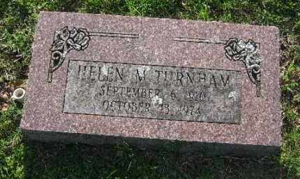 TURNHAM, HELEN M. - Sebastian County, Arkansas   HELEN M. TURNHAM - Arkansas Gravestone Photos
