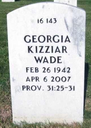 KIZZIAR WADE, GEORGIA LOU - Sebastian County, Arkansas | GEORGIA LOU KIZZIAR WADE - Arkansas Gravestone Photos