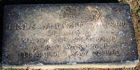 WALKER (VETERAN 2 WARS), LINUS WHITMER - Sebastian County, Arkansas | LINUS WHITMER WALKER (VETERAN 2 WARS) - Arkansas Gravestone Photos