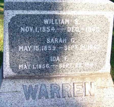 WARREN, IDA F - Sebastian County, Arkansas | IDA F WARREN - Arkansas Gravestone Photos