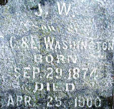 WASHINGTON, J. W. - Sebastian County, Arkansas | J. W. WASHINGTON - Arkansas Gravestone Photos