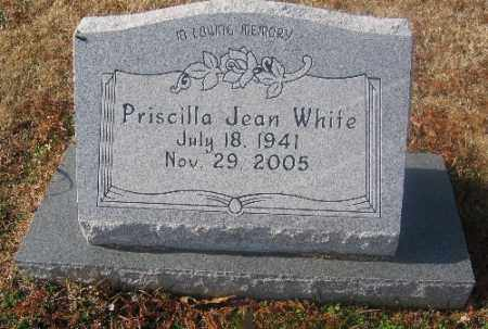 WHITE, PRISCILLA JEAN - Sebastian County, Arkansas   PRISCILLA JEAN WHITE - Arkansas Gravestone Photos