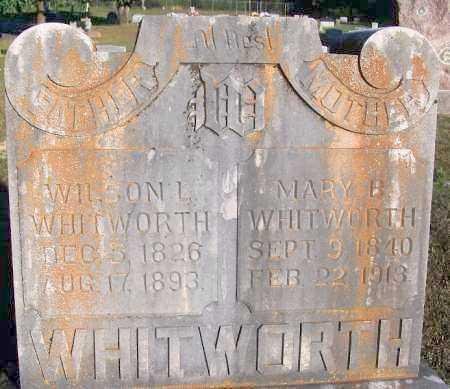 WHITWORTH, MARY B - Sebastian County, Arkansas | MARY B WHITWORTH - Arkansas Gravestone Photos