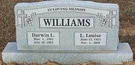 WILLIAMS, DARWIN LOVELL - Sebastian County, Arkansas   DARWIN LOVELL WILLIAMS - Arkansas Gravestone Photos