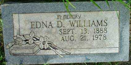 WILLIAMS, EDNA DELANA - Sebastian County, Arkansas | EDNA DELANA WILLIAMS - Arkansas Gravestone Photos