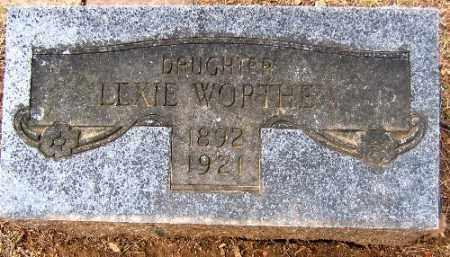 WORTHEN, LEXIE - Sebastian County, Arkansas | LEXIE WORTHEN - Arkansas Gravestone Photos