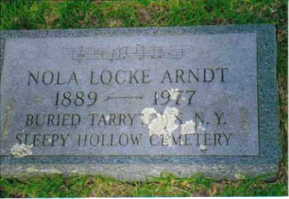 LOCKE ARNDT, NOLA - Sevier County, Arkansas | NOLA LOCKE ARNDT - Arkansas Gravestone Photos