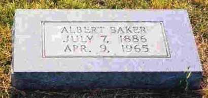 BAKER, ALBERT - Sevier County, Arkansas   ALBERT BAKER - Arkansas Gravestone Photos