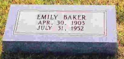 BAKER, EMILY - Sevier County, Arkansas | EMILY BAKER - Arkansas Gravestone Photos
