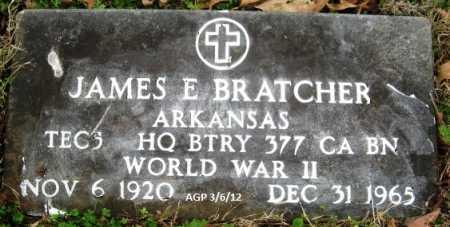 BRATCHER (VETERAN WWII), JAMES E - Sevier County, Arkansas | JAMES E BRATCHER (VETERAN WWII) - Arkansas Gravestone Photos