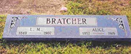 BRATCHER, ALICE - Sevier County, Arkansas | ALICE BRATCHER - Arkansas Gravestone Photos