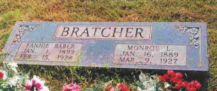BRATCHER, FANNIE - Sevier County, Arkansas | FANNIE BRATCHER - Arkansas Gravestone Photos