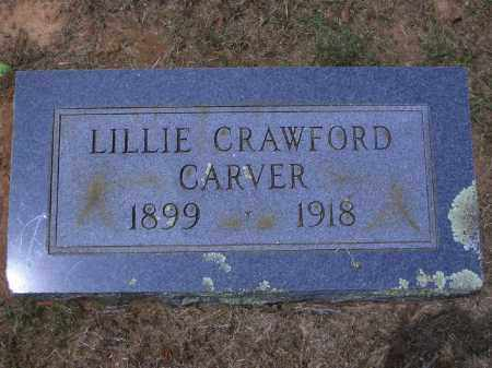 CRAWFORD CARVER, LILLIE - Sevier County, Arkansas | LILLIE CRAWFORD CARVER - Arkansas Gravestone Photos