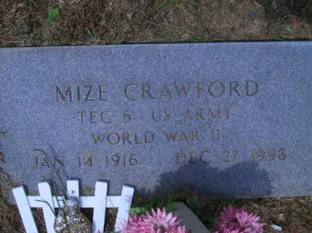 CRAWFORD (VETERAN WWII), MIZE - Sevier County, Arkansas | MIZE CRAWFORD (VETERAN WWII) - Arkansas Gravestone Photos