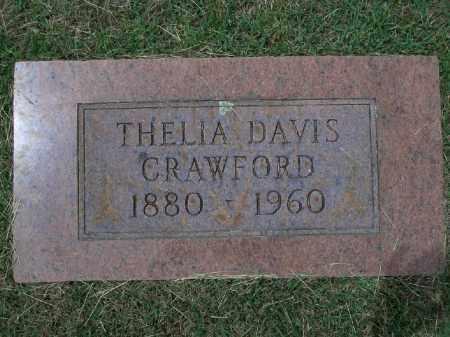 DAVIS CRAWFORD, THELIA - Sevier County, Arkansas | THELIA DAVIS CRAWFORD - Arkansas Gravestone Photos