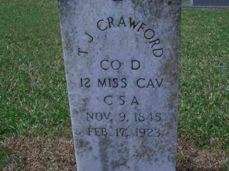 CRAWFORD (VETERAN CSA), T  J - Sevier County, Arkansas | T  J CRAWFORD (VETERAN CSA) - Arkansas Gravestone Photos